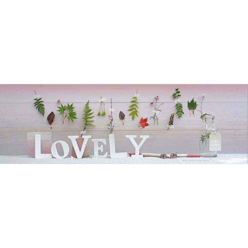 Toile Imprimée Mot Lovely L140 X H45 Cm