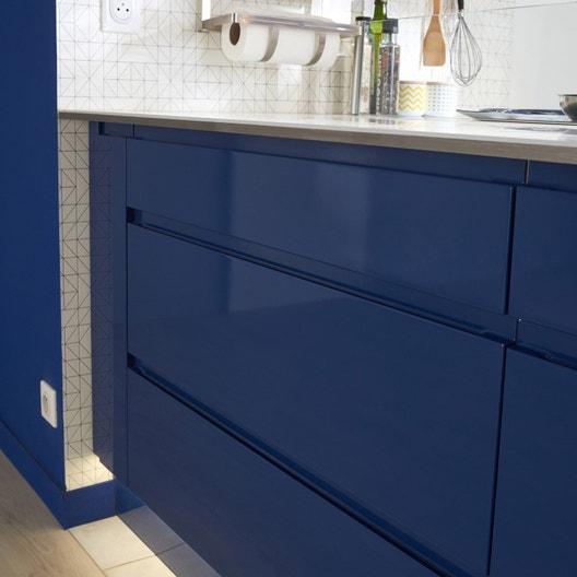 Porte De Cuisine Bleu Nuit Graphic L 15 X H 70 Cm Leroy Merlin