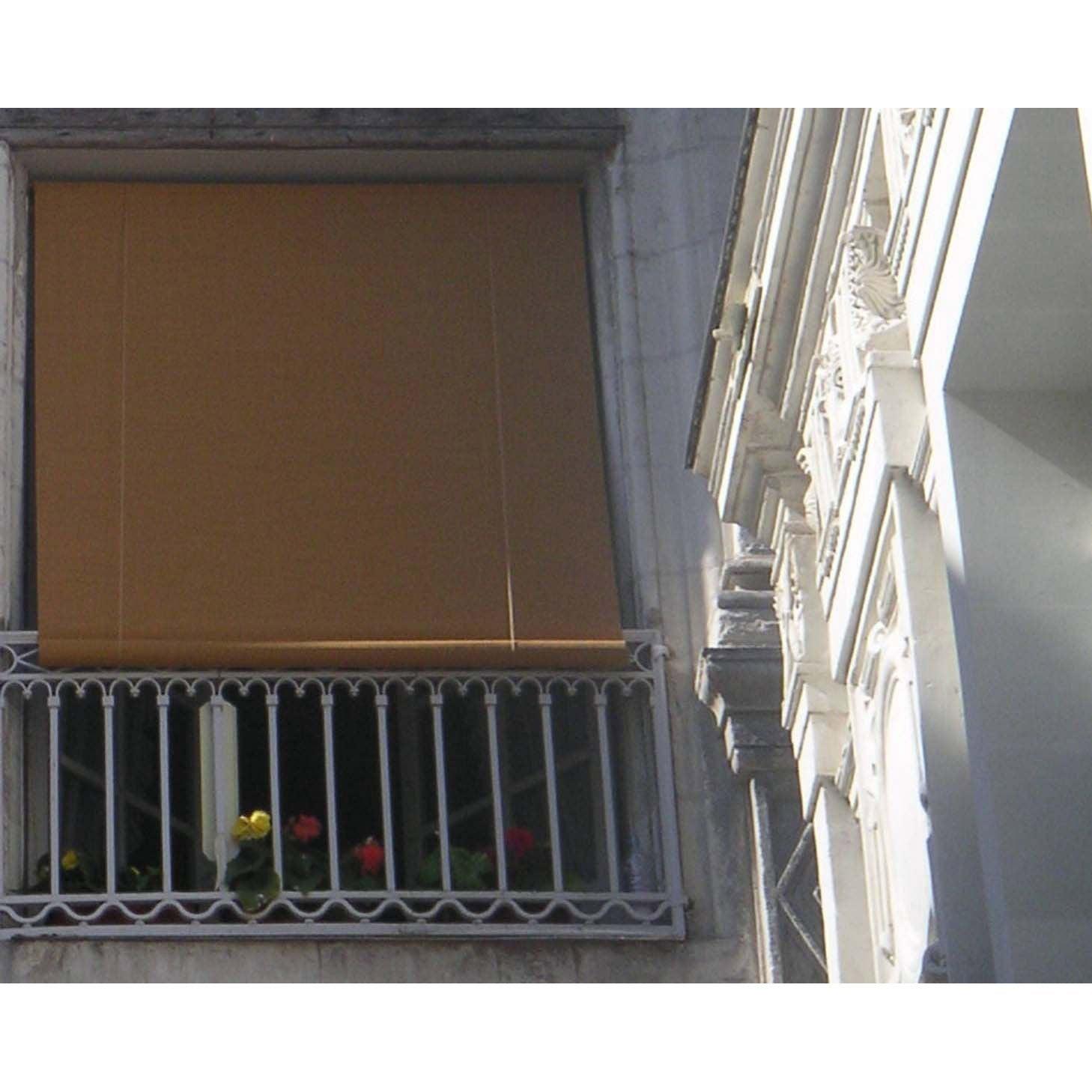 merveilleux Store enrouleur tamisant Bois tissé, chamois, 120/130 x 220 cm