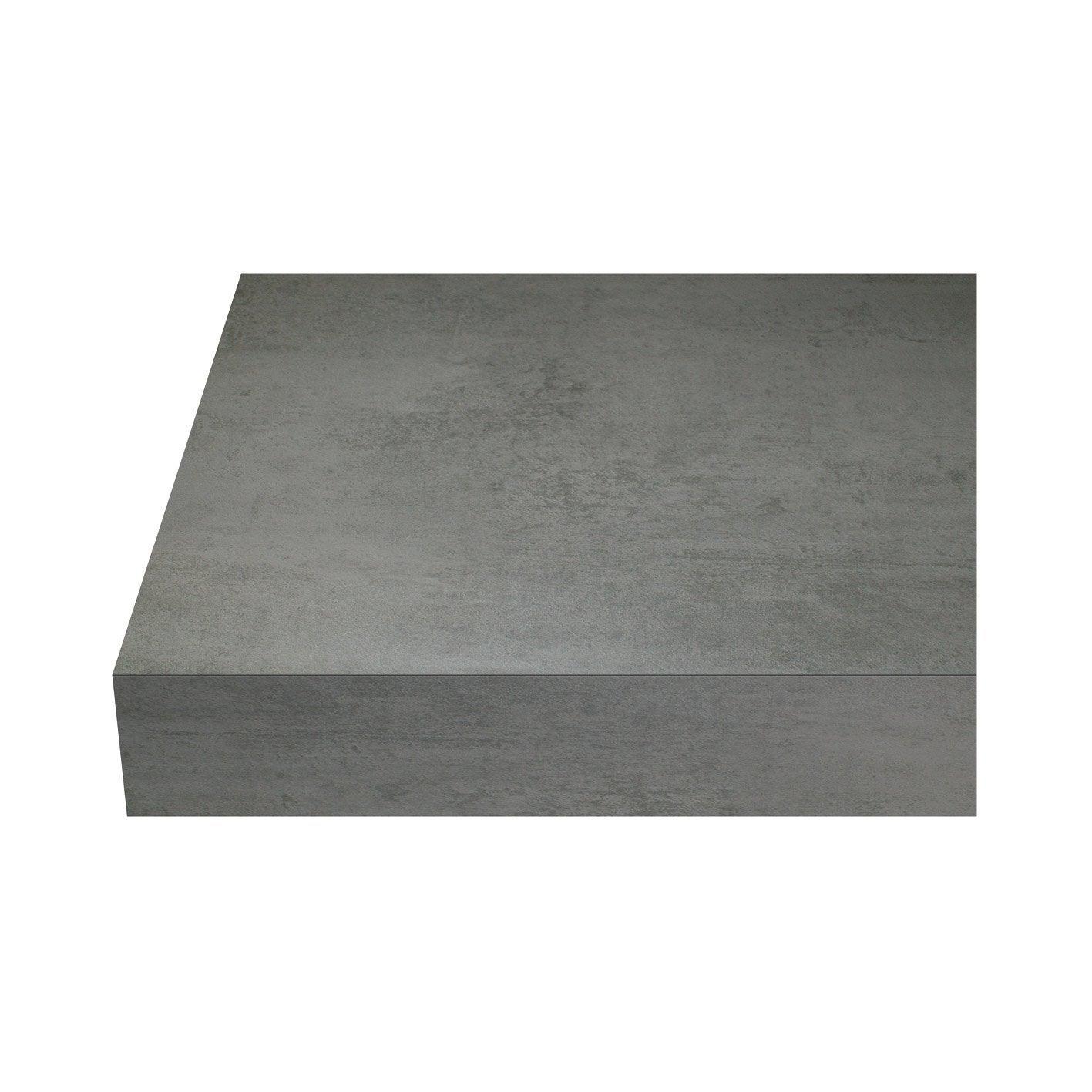 Beton Cire Exterieur Avis plan de travail stratifié beton cire clair mat l.315 x p.65 cm, ep.38 mm
