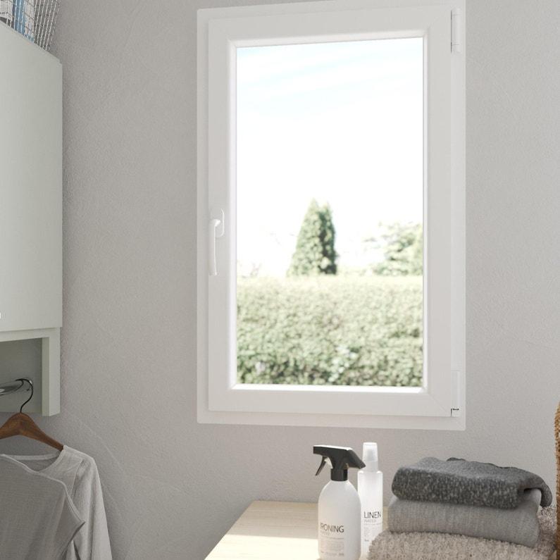 Fenêtre PVC H.95 x l.60 cm, blanc, 1 vantail oscillo-battant tirant droit