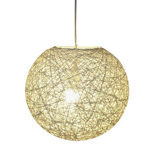 Suspension nature kirou rotin naturel 1 x 40 w seynave for leroy merlin luminaire suspension