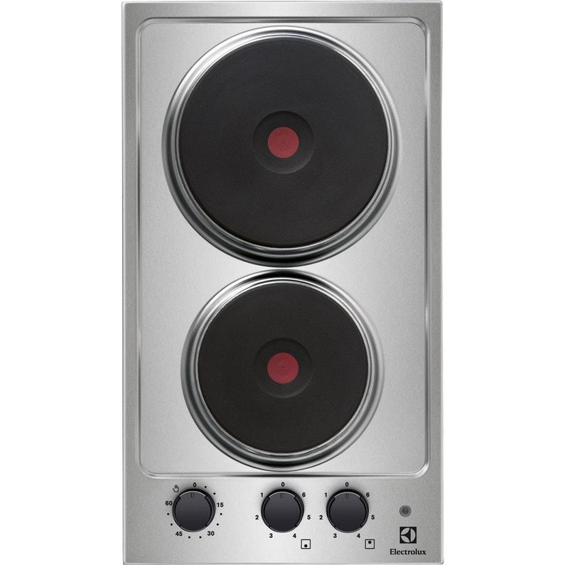 design de qualité 3ee71 dba98 Plaque de cuisson électrique 2 foyers, gris, ELECTROLUX EHS3920HOX