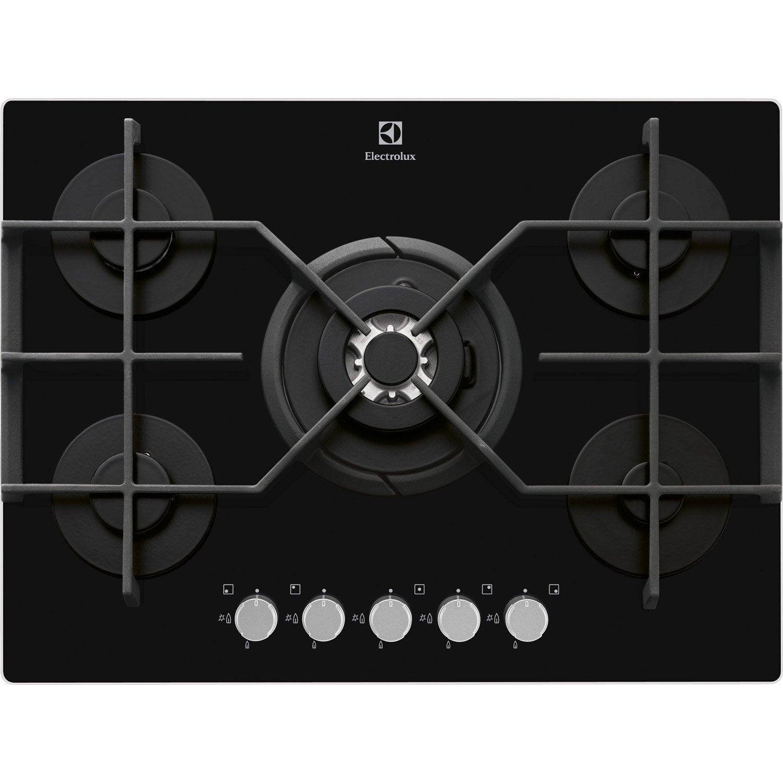 table de cuisson induction gaz. plaque de cuisson gaz cm noire inox