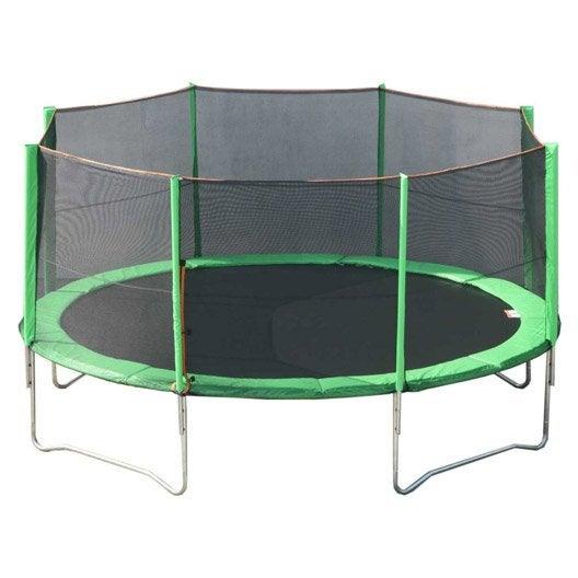 trampoline avec filet 430 cm leroy merlin. Black Bedroom Furniture Sets. Home Design Ideas