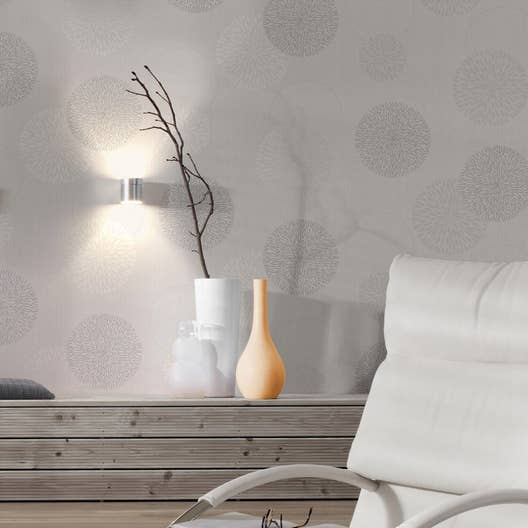 papier peint intiss spot bulles gris leroy merlin. Black Bedroom Furniture Sets. Home Design Ideas