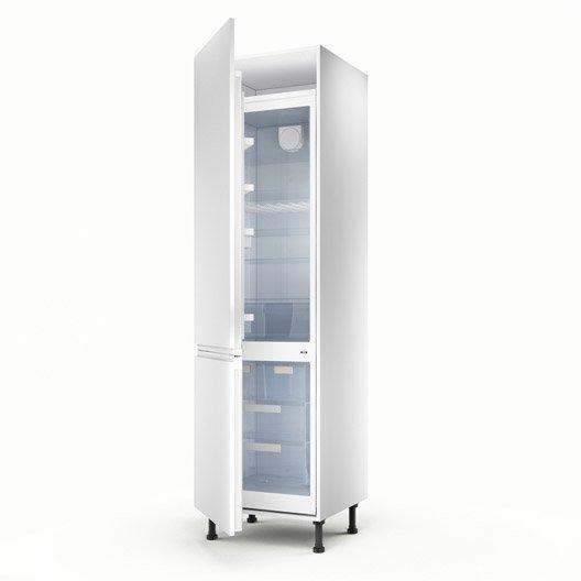 Meuble de cuisine colonne blanc 2 portes graphic x l - Colonne de cuisine 60 cm ...