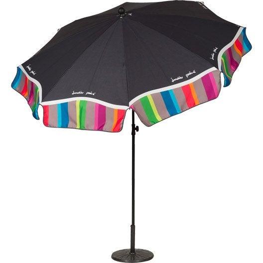 Parasol droit malaga panach rond x cm - Housse parasol chauffant leroy merlin ...