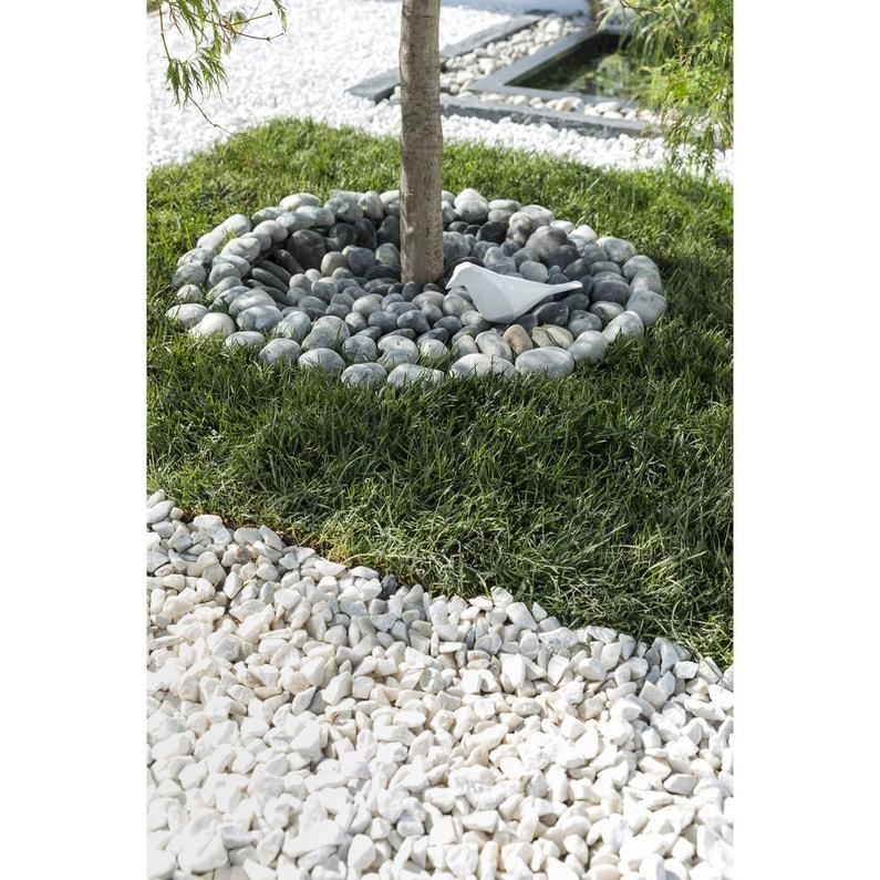 Galet en pierre naturelle, gris, 40/60 mm, 25 kg | Leroy Merlin