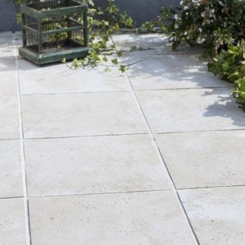 dalle pierre reconstitue kairouan beige l50 x l50 cm x