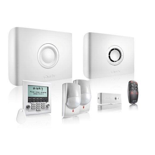 Alarme maison sans fil compatible animaux somfy 2401333 - Alarme leroy merlin ...