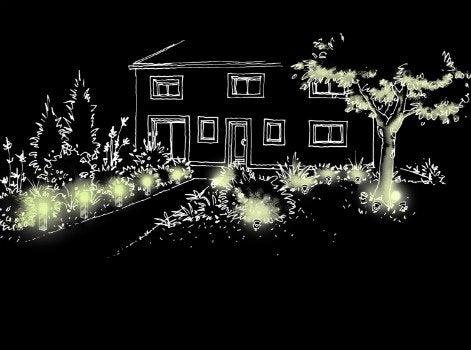 Bien clairer votre jardin la nuit leroy merlin for Eclairage jardin enterre
