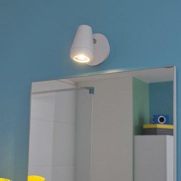 Spot patère Manta, LED 1 x 4.5 W, GU10 blanc chaud