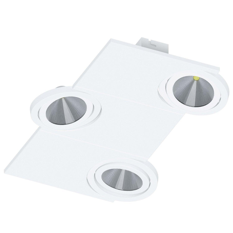 plafonnier 3 spots led double spot led cuisine talita millumine intrieur table de cuisine sous. Black Bedroom Furniture Sets. Home Design Ideas