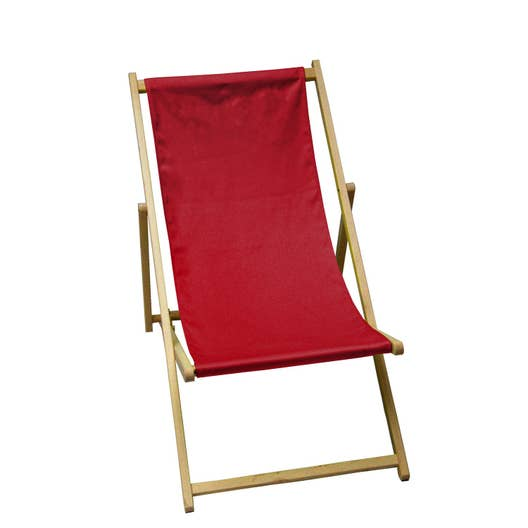 chilienne de jardin en bois lola rouge carmin leroy merlin. Black Bedroom Furniture Sets. Home Design Ideas