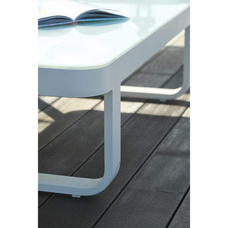 Salon bas de jardin Barcelona aluminium blanc, 6 personnes | Leroy ...