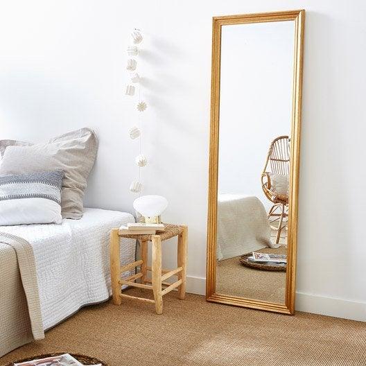 Miroir design industriel miroir mural sur pied au for Miroir mural 40x140