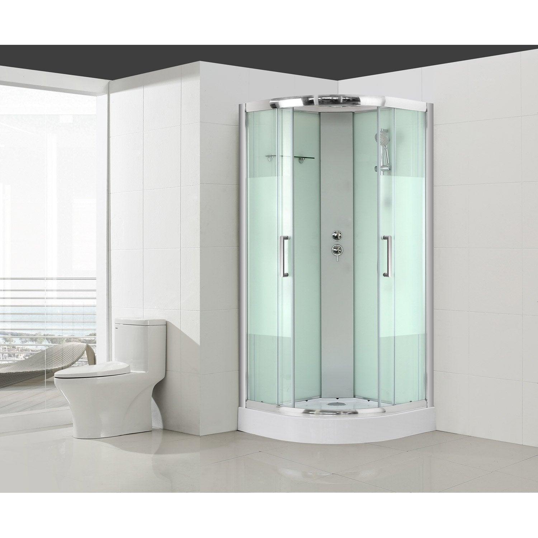 cabine de douche 1 4 de cercle x cm verre. Black Bedroom Furniture Sets. Home Design Ideas