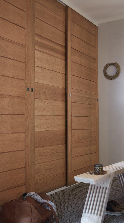 Creer Des Portes De Placard Coulissantes portes de placard coulissantes en chêne verni | leroy merlin