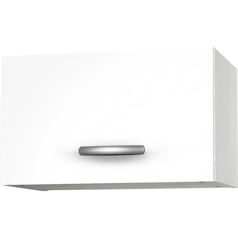 Meuble de cuisine haut 1 porte, blanc, h35.2x l60x p35.2cm | Leroy ...