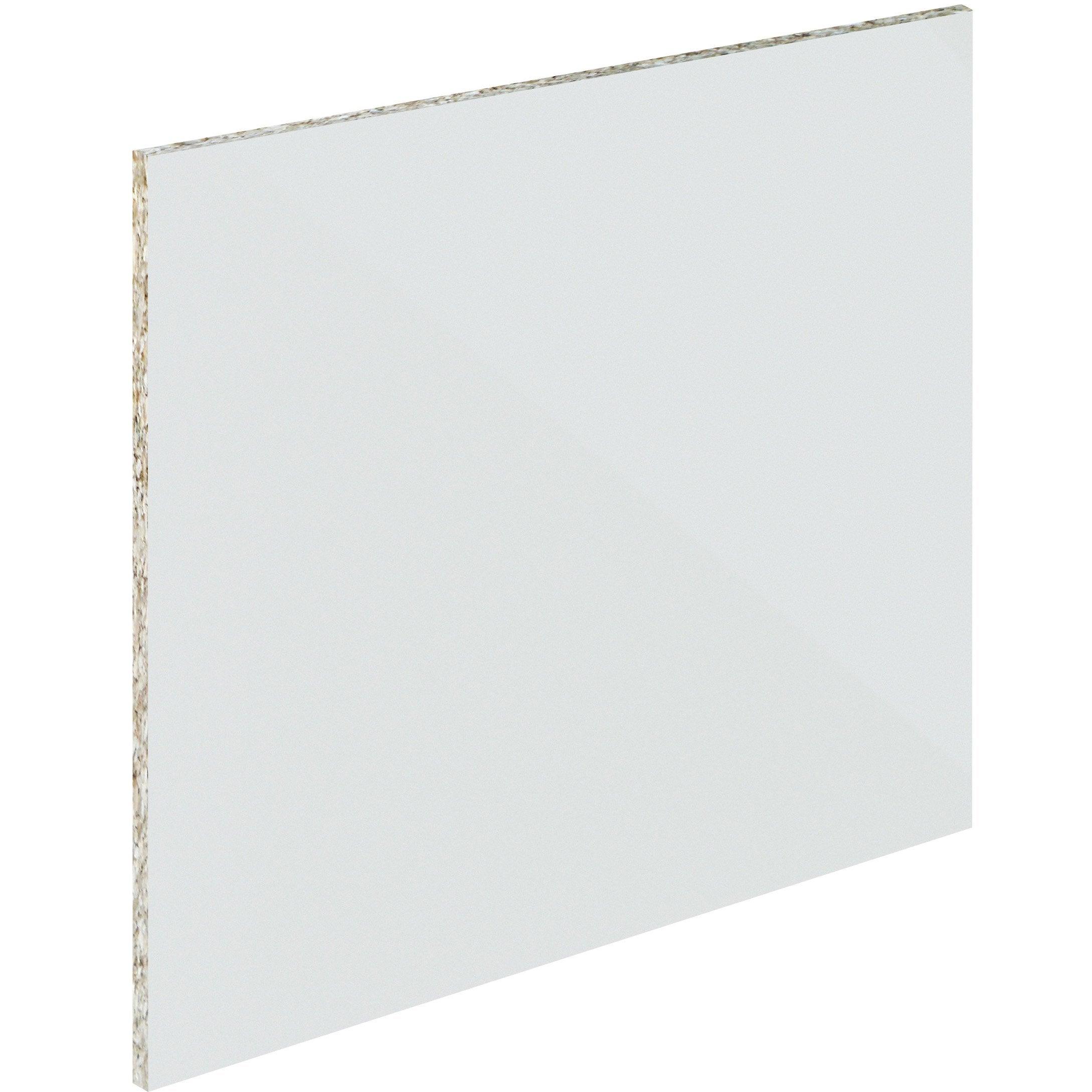 Crédence verre trempé Blanc mat délice H.45 cm x Ep.5 mm x L.60 cm