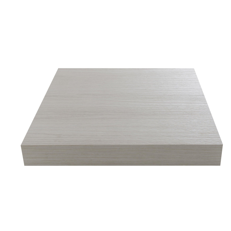 Plan de travail stratifié Linéa blanc Mat L.315 x P.65 cm, Ep.38 mm