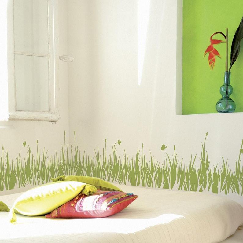 Peinture pochoirs vert anis satin MAISON DECO Peinture pochoir couleur 0.06  l
