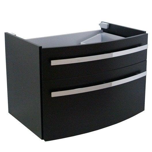 meuble sous vasque x x cm noir image leroy merlin. Black Bedroom Furniture Sets. Home Design Ideas