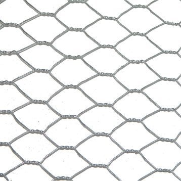 Grillage pour animaux triple torsion gris, H.0.5 x L.10 m, maille H.13 x l.13 mm