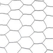 Grillage triple torsion gris H.0.5 x L.10 m, maille de H.25 x l.25 mm