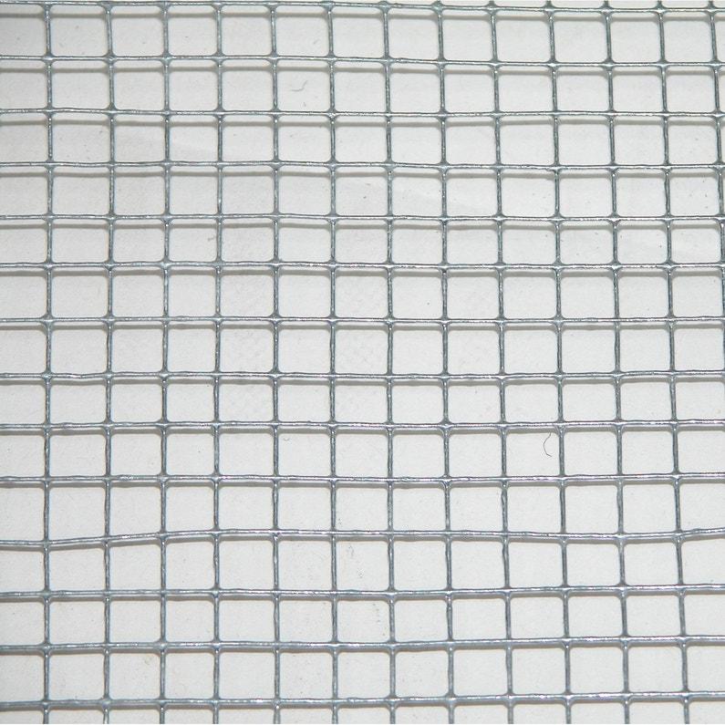 Grillage Pour Animaux Soudé Gris H 1 X L 3 M Maille H 6 X L 6 4 Mm