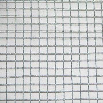 Grillage soudé gris H.1 x L.3 m, maille de H.6 x l.6.4 mm