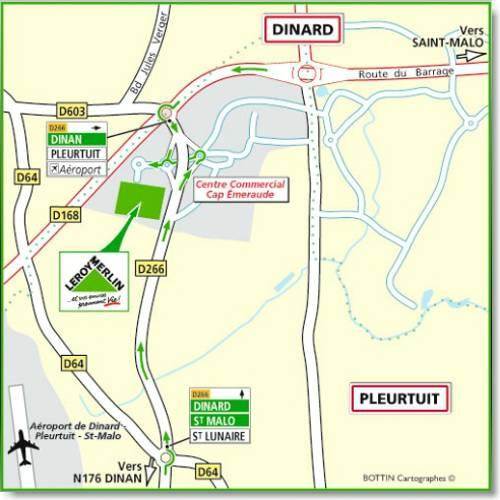 Plan d'accès au magasin Leroy Merlin de Laval (saint berthevin)
