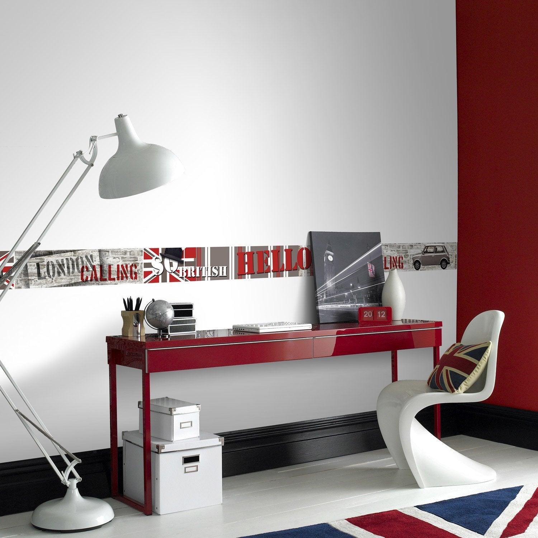 Frise vinyle adhésive London travel L.5 m x l.15 cm   Leroy Merlin