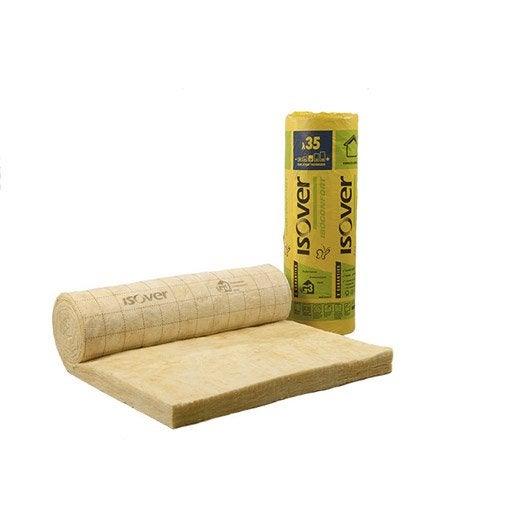 laine de verre nu 10 x 1 2 m ep 60 mm lambda r. Black Bedroom Furniture Sets. Home Design Ideas