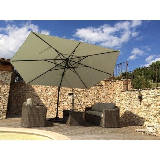Parasol parasol d port de balcon droit leroy merlin - Parasol rectangulaire leroy merlin ...