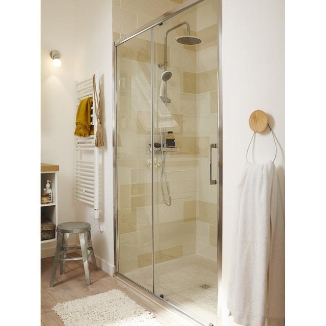 Une douche la place de la baignoire leroy merlin - Blanc comme l ivoire ...