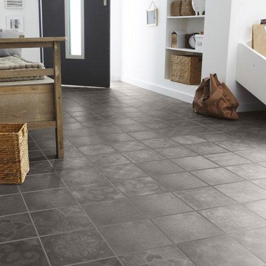 Carrelage sol et mur bronze effet ciment bistro x l for Carrelage hexagonal leroy merlin