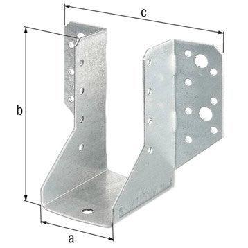 querre de fixation pour tasseau tasseau planche et querre de fixation leroy merlin. Black Bedroom Furniture Sets. Home Design Ideas