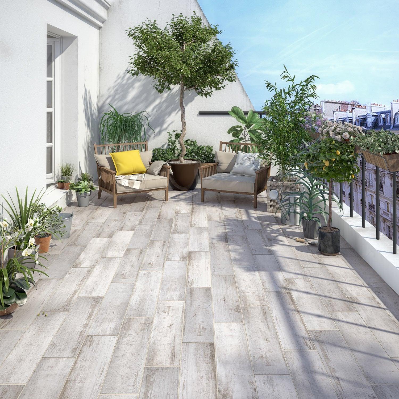 carrelage sol ext rieur intenso effet bois blanc paillotte. Black Bedroom Furniture Sets. Home Design Ideas