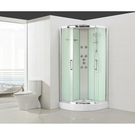 Cabine de douche salle de bains au meilleur prix leroy - Cabine de douche fabrication francaise ...