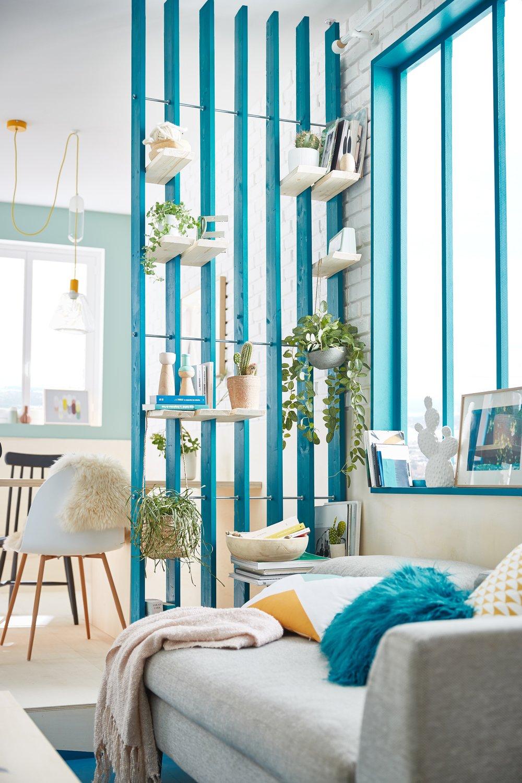 Des Touches De Peinture Bleue Donne Du Peps Au Salon Leroy