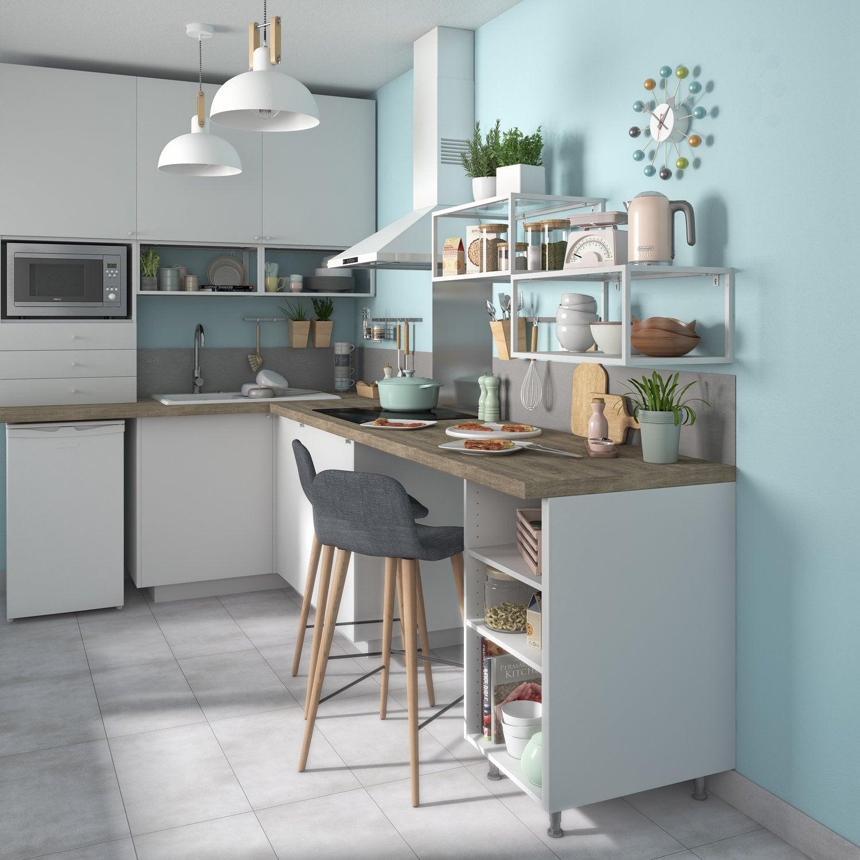 Amenager Petite Cuisine Avec Bar petite cuisine : optimisez l'espace   leroy merlin