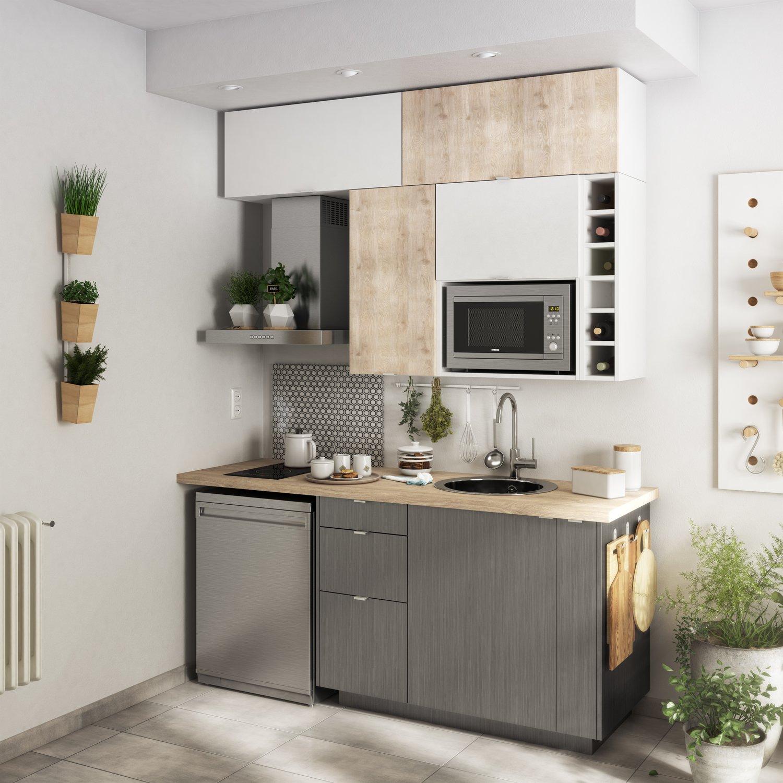 petite cuisine pour studio leroy merlin. Black Bedroom Furniture Sets. Home Design Ideas