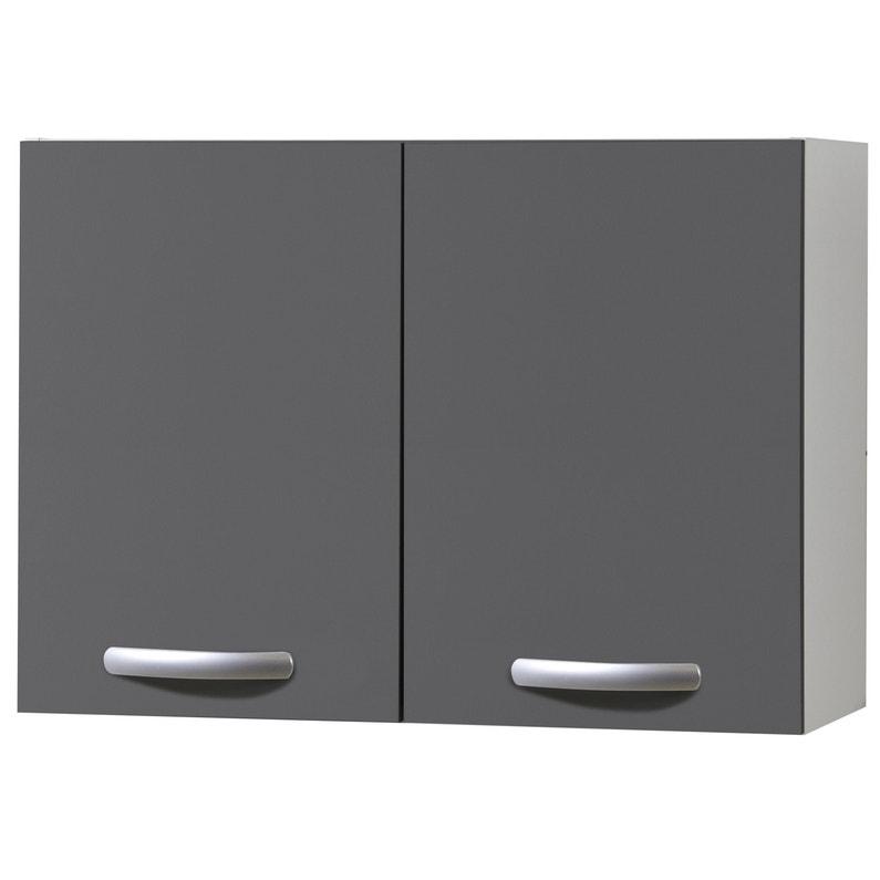 Meuble de cuisine haut 2 portes gris ombré H.57.9 x l.80 x P.35.2 cm ...