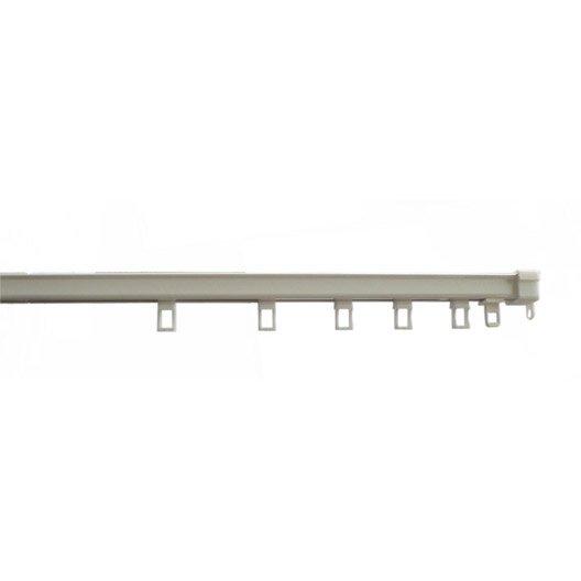 rail acier astuce rail blanc laqu cm ouverture lat rale ou centrale leroy merlin. Black Bedroom Furniture Sets. Home Design Ideas