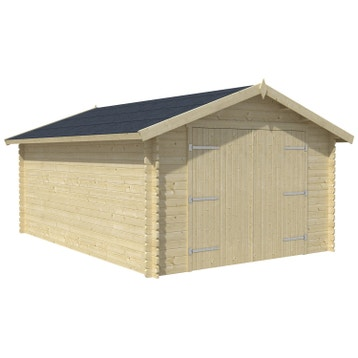 Garage Bois Métal Toit Plat 1 Ou 2 Voitures Au Meilleur