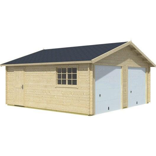 Garage en bois Baïkal, 28.38 m²