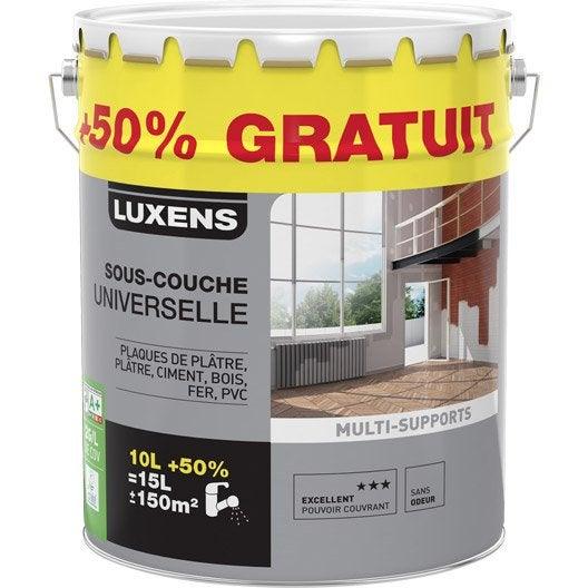 Sous couche universelle LUXENS, 10L + 50% gratuit