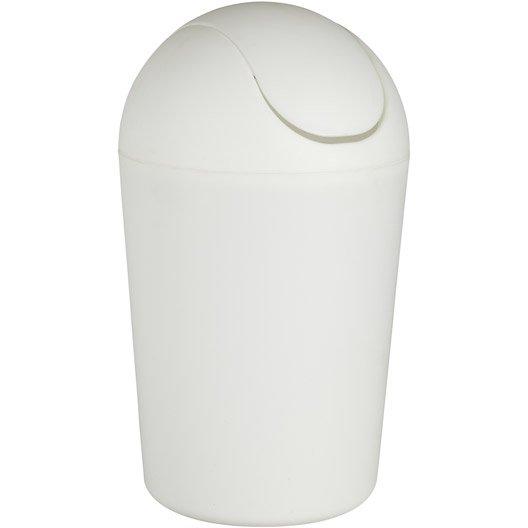 poubelle de salle de bains 5 l blanc funky | leroy merlin